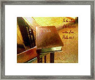 In The Volume Of The Book Framed Print by Glenn McCarthy Art and Photography