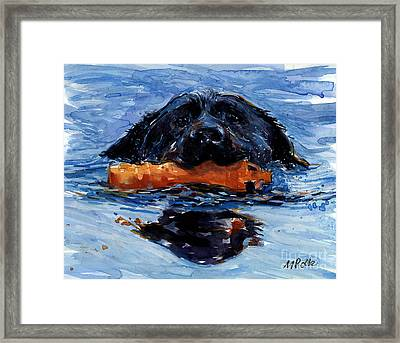 Framed Print featuring the painting In The Wake by Molly Poole