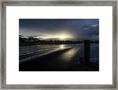 In The Wake Zone Framed Print by Laura Fasulo