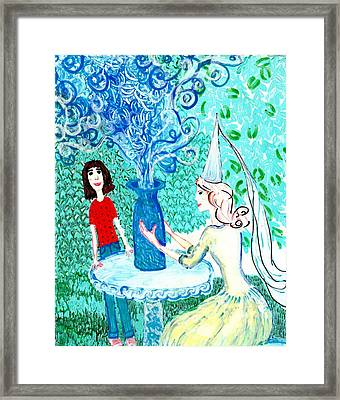 In The White Lady's Cave Framed Print by Sushila Burgess