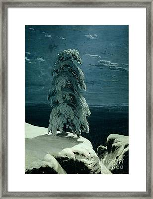 In The Wild North Framed Print by Ivan Ivanovich Shishkin