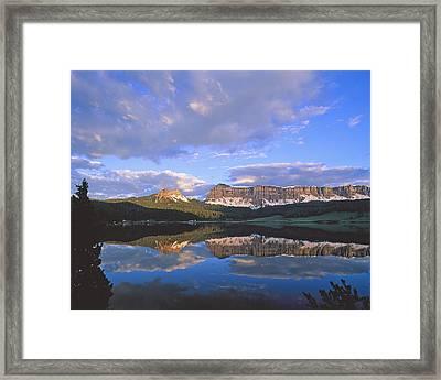 In The Wind River Range. Framed Print