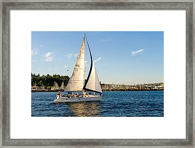 In The Wind Framed Print by Tom Dowd