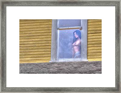 In The Window Framed Print by Naman Imagery
