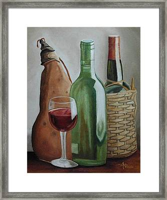 In The Winery Framed Print by Angeles M Pomata