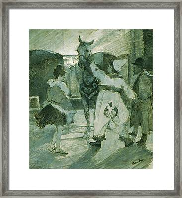 In The Wings At The Circus Framed Print