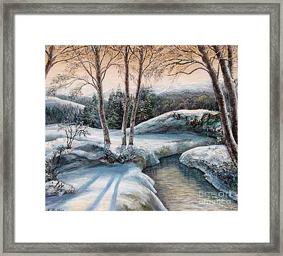 In The Winter In Carpathians.  Framed Print by Maya Bukhina