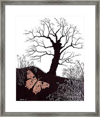 Framed Print featuring the painting In The Winter Woods by Stanza Widen