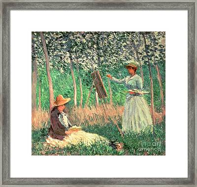 In The Woods At Giverny Framed Print