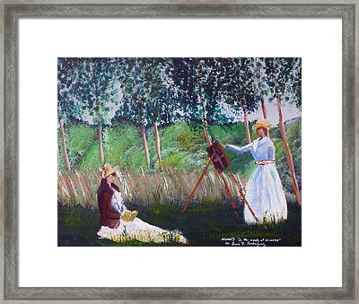 In The Woods At Giverny Framed Print by Luis F Rodriguez