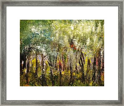 Framed Print featuring the painting In The Woods by Evelina Popilian