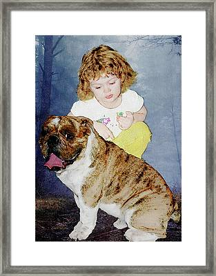 In The Woods With Her Best Friend Framed Print by Ericamaxine Price