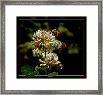 In The Work Framed Print by Richard Gordon