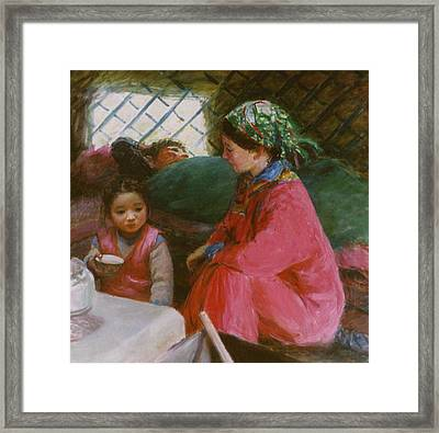 In The Yurt Framed Print