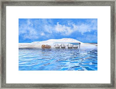 In Their Own Minds--serenity Point Framed Print by Betsy Knapp