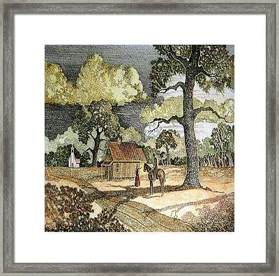 In Three Days Framed Print