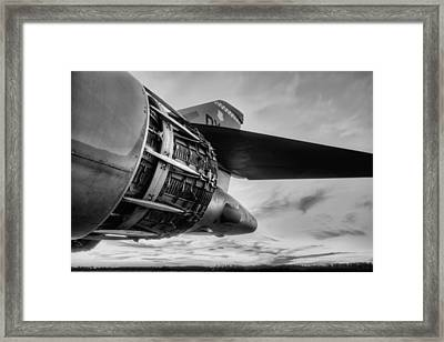 In Thrust We Trust Black And White Framed Print by JC Findley