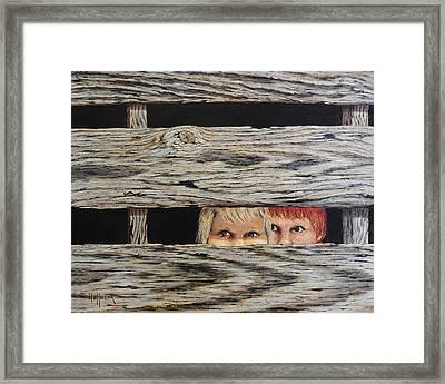 In Trouble Framed Print by Bob Hallmark