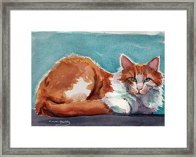 In Turquoise Framed Print