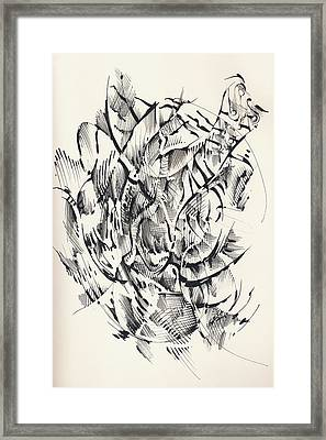 Framed Print featuring the drawing In Vain by Keith A Link