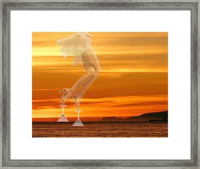 In Venus Veritas Framed Print by Viktor Savchenko