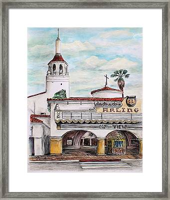 In View Arlington Theater Framed Print