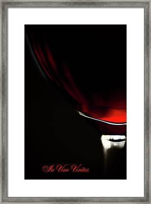 In Vino Veritas 1 Framed Print