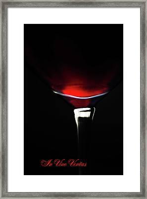 In Vino Veritas 2 Framed Print