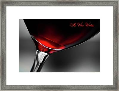In Vino Veritas Framed Print by Jenny Rainbow