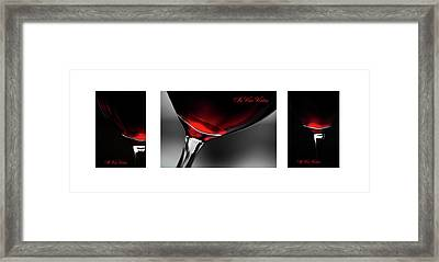 In Vino Veritas. White Framed Triptych Framed Print by Jenny Rainbow