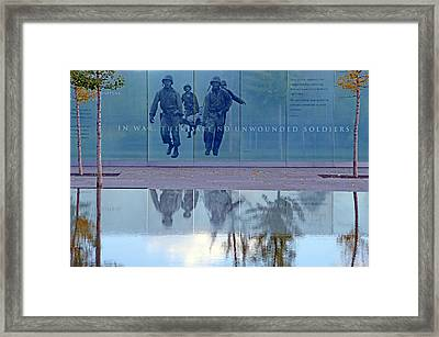 In War There Are No Unwounded Soldiers Framed Print
