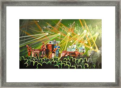 In With The Um Crowd Framed Print