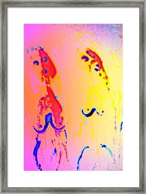 In Wonderland We Swim Around, Wondering Why  Framed Print by Hilde Widerberg