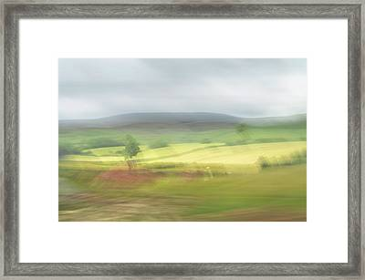 Framed Print featuring the photograph In Yorkshire 1 by Dubi Roman