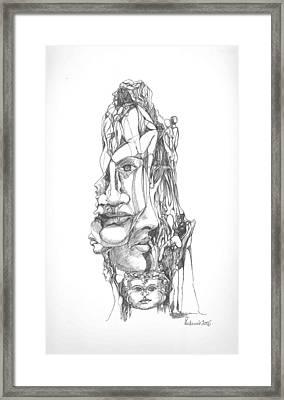 In Your Head Framed Print by Padamvir Singh