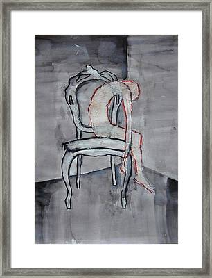 Thin Skin On Chair Framed Print