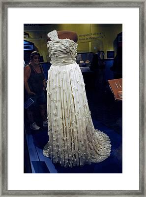 Inaugural Gown On Display Framed Print by LeeAnn McLaneGoetz McLaneGoetzStudioLLCcom