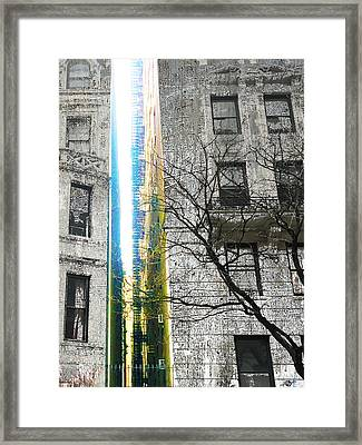 Framed Print featuring the mixed media Inbetween  by Tony Rubino