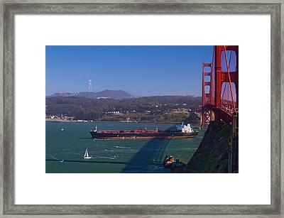 Inbound Boat Race Framed Print by Tim Mulina