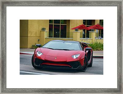 Inbound Lambo Framed Print