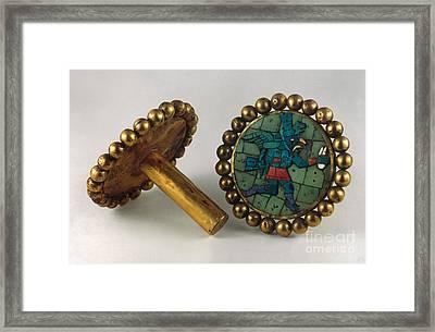 Inca Earrings Framed Print