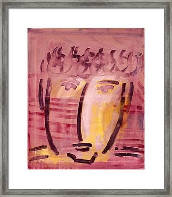 Inca Head Framed Print by Michael Keogh