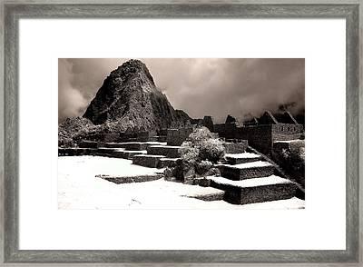 Inca Ruins Peru Machu Picchu Framed Print