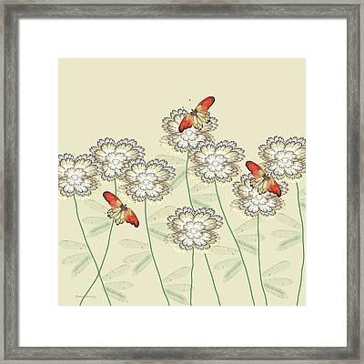 Incendia Flower Garden Framed Print by Rosalie Scanlon