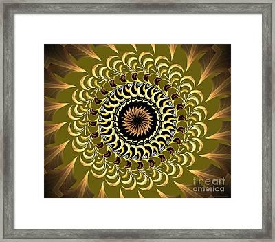 Incendia Kaleidoscope Framed Print by Deborah Benoit