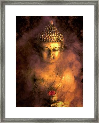 Framed Print featuring the photograph Incense Buddha by Daniel Hagerman