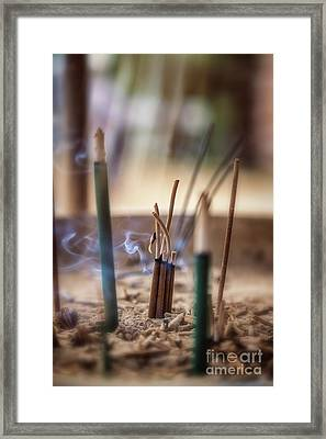 Incense Burning Framed Print by Jane Rix