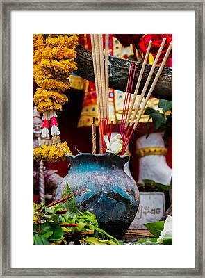 Incense Prayers For Good Deeds Framed Print by Nomadic Ninja Negativs