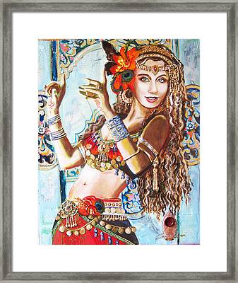 Incense Framed Print by Stephanie Bolton