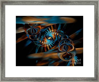 Inception Abstract Framed Print by Olga Hamilton